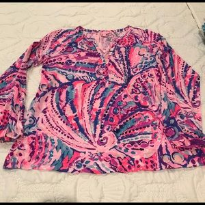 NWOT Lilly Pulitzer cotton top blouse Large